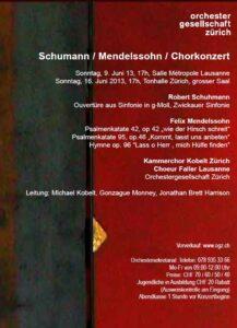 Grosses Chorkonzert 2013